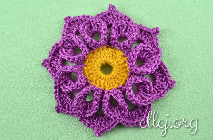 Crochet Curly Flower
