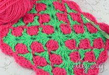 Raspberry Baby Blanket