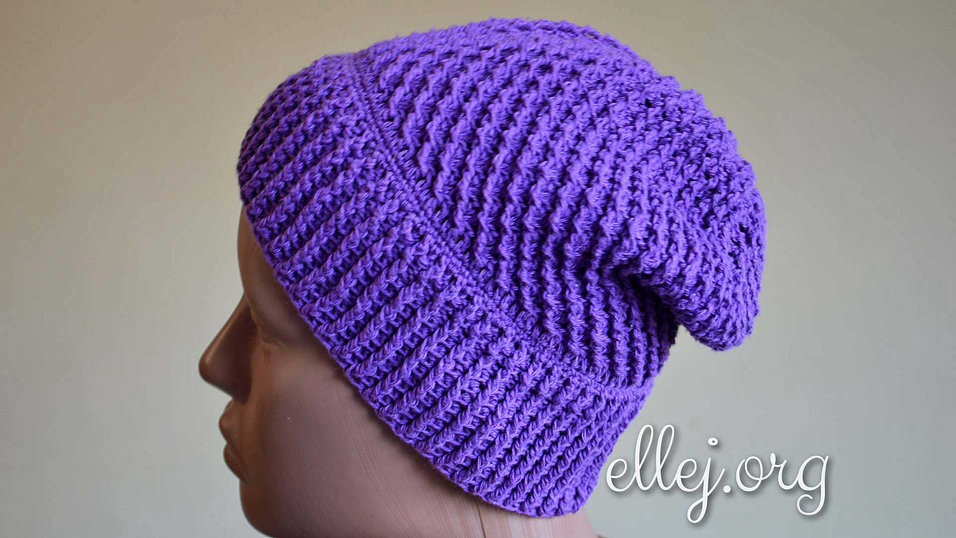 Galaxy baggy beanie hat Free Crochet Tutorials ...