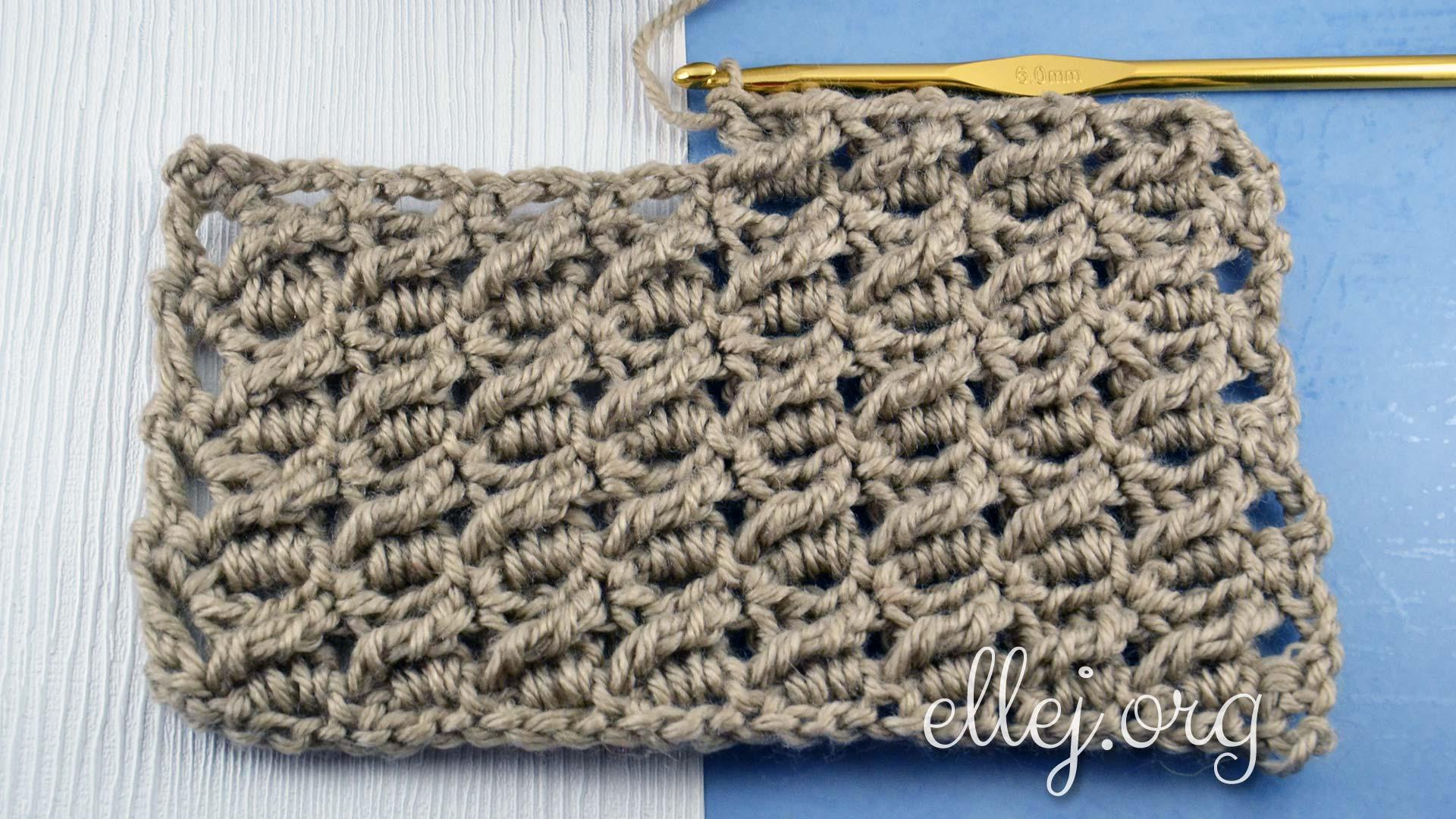 Узор Косые столбики | Вязание крючком от Елены Кожухарь