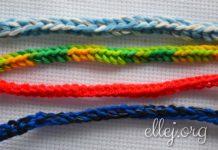 Очень простой шнур крючком