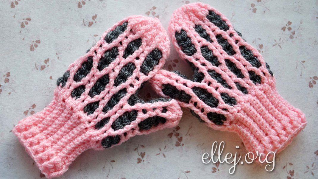 Варежки-рукавички крючком