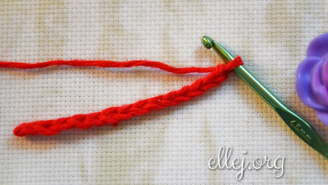 Как спрятать хвостик в начале вязания крючком