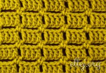 Simple crochet stitch 001