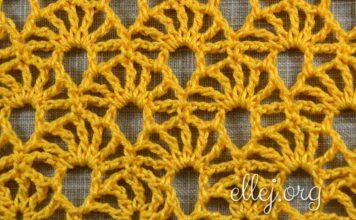 Ажурный узор Желтый коралл крючком