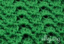 Sirtaki Relief Crochet Stitch