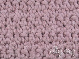 Solid two-sided crochet stitch with extended sc