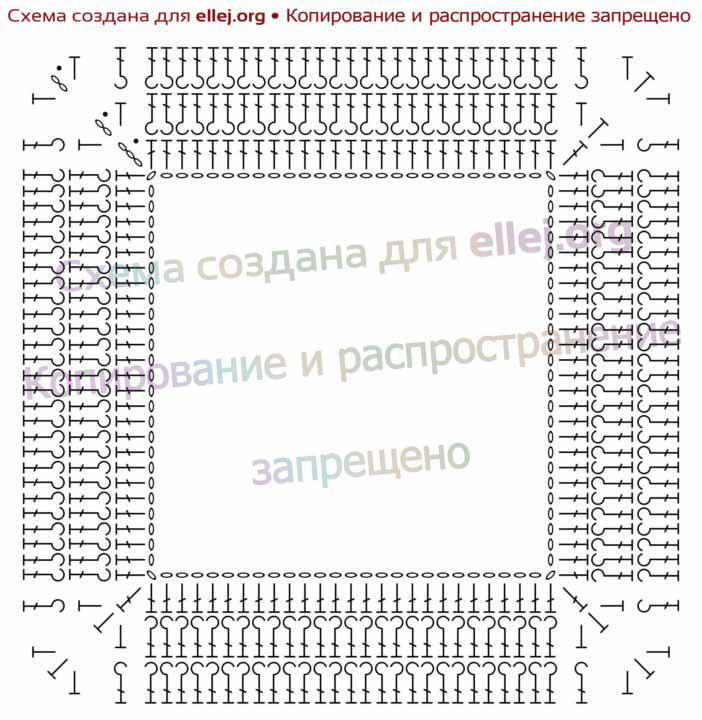 Схема вязания топа для девочки