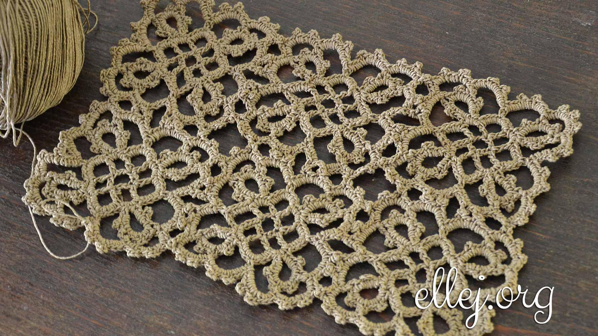 Мотивы для платья Загадочная Бразильянка • Безотрывное вязание