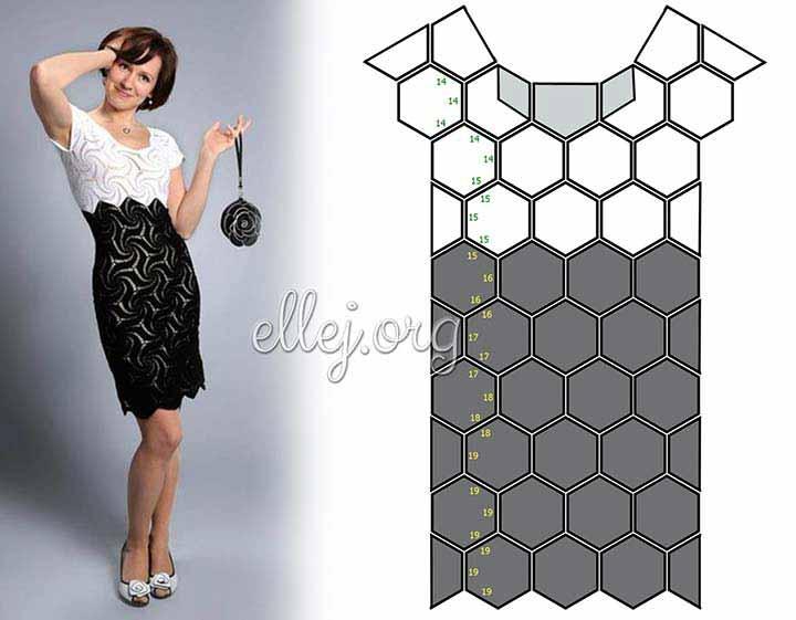 Схема выкройки платья