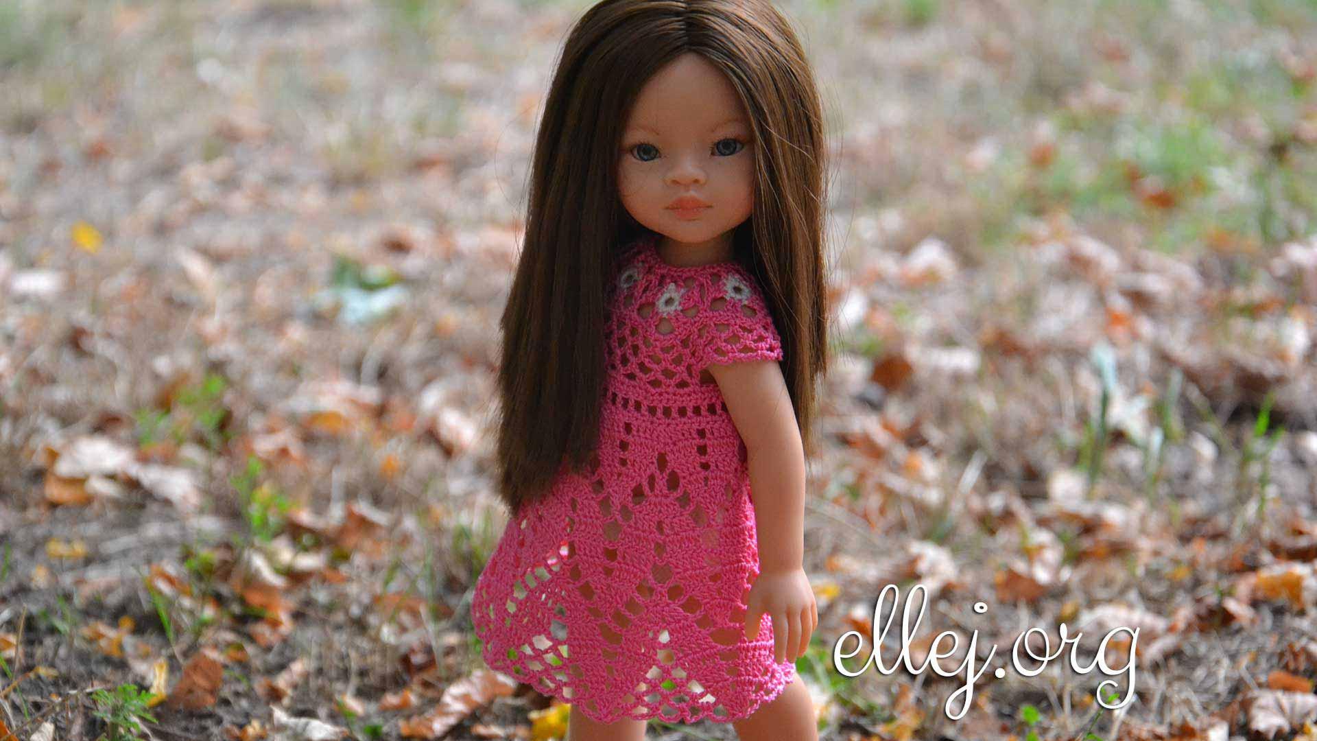 Платье для куклы Фламинго