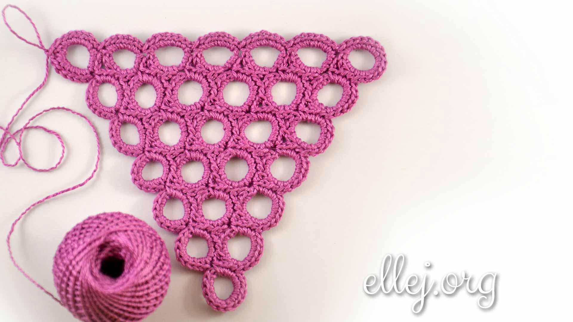 Кружочки из столбиков без накида | Вязание крючком от Елены Кожухарь