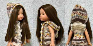 Безрукавка с капюшоном для куклы Paola Reina