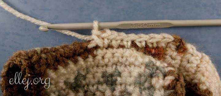 Начало вязания капюшона крючком
