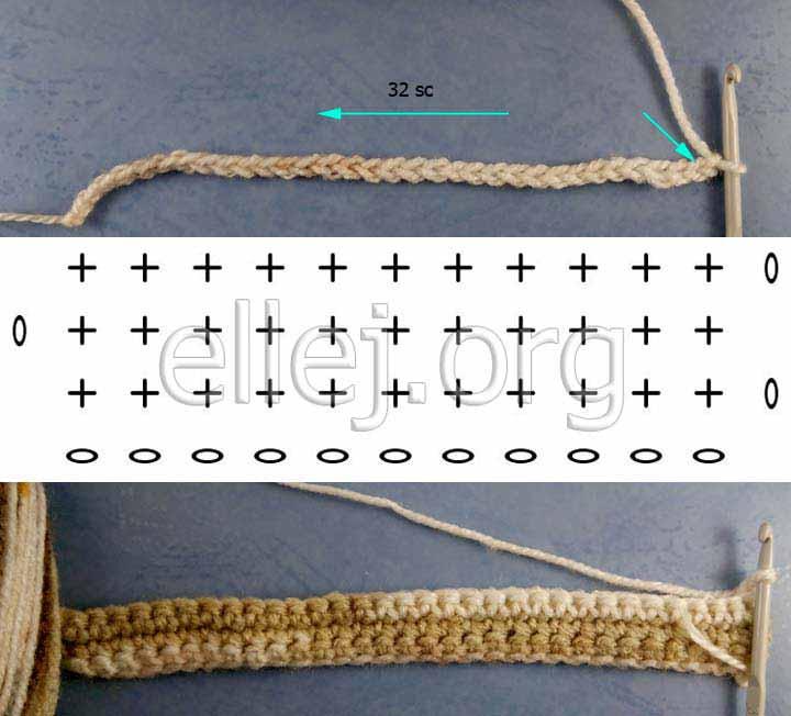 Первые ряды и схема для жилета