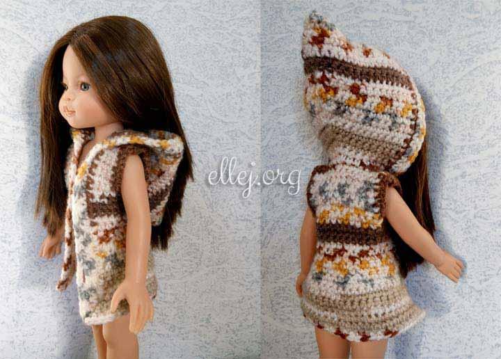 Жилет с капюшоном для куклы Паола Рейна