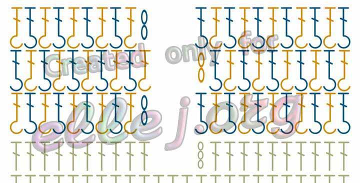 Резинка крючком 1*1 схема