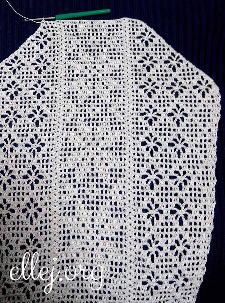 Рукав для филейной сорочки. Фото.