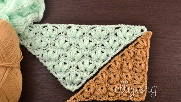 Very pretty and easy flower pattern for a shawl
