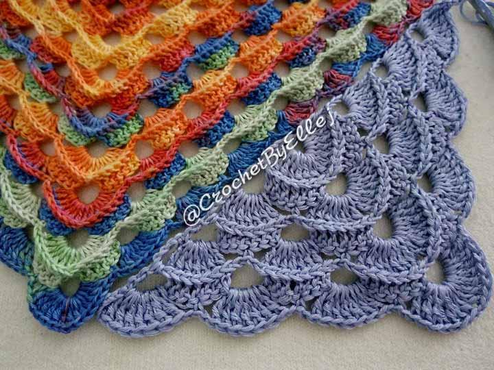 Шейный платок крючком. Описание и схема