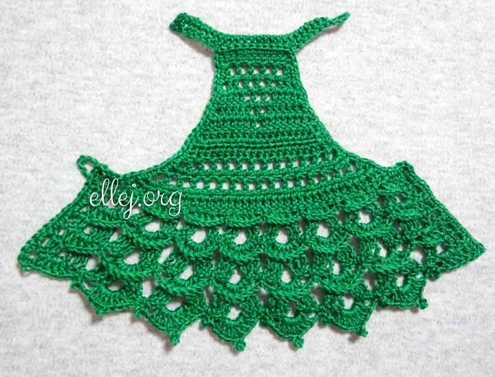 Мастер-класс по вязанию кокетки платья для куклы Paola Reina