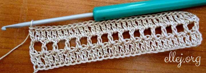 Образец для вычисления плотности вязания