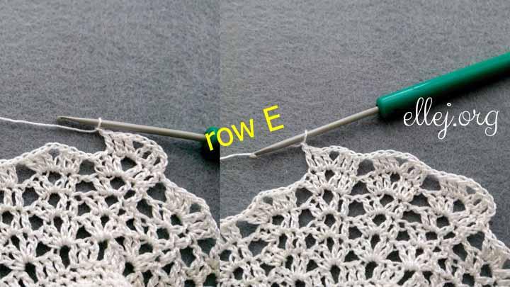 Расширяющийся узор для платья крючком