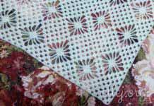 Треугольная шаль с паучками. Узор для шали Небо в алмазах. Пошаговый мастер-класс и схема шали
