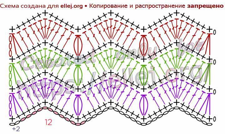 Турецкий узор №2. Схема вязания
