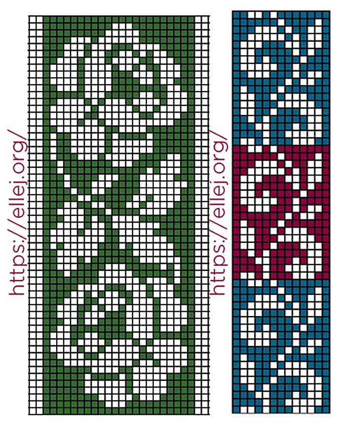 Схема филейных вставок Розы и листья