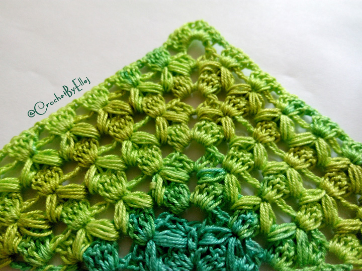 Crochet shawl «Hop» • Turkish pattern