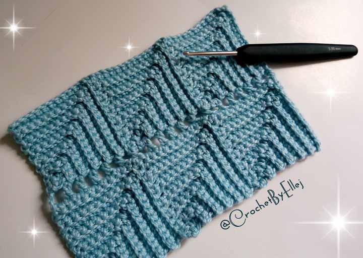 «Parquet» Crochet Stitch • Continuous Crochet