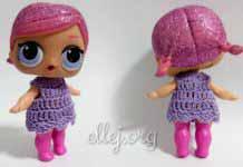 Платье крючком для куклы ЛОЛ