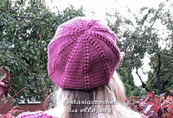 Crochet Beret Hat from Anastasia Glagoleva