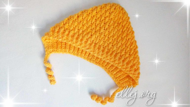 Чепчик Апельсин крючком. Описание вязания, МК, схема детской шапочки