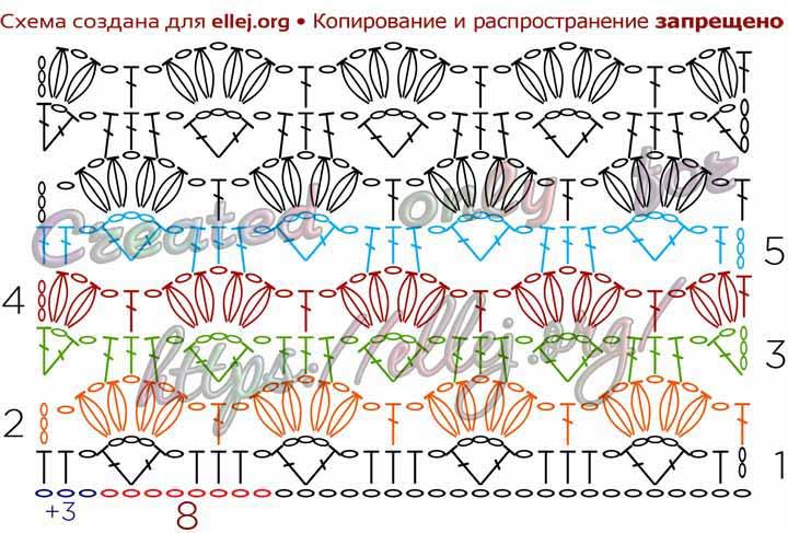 Схема вязания узора 062
