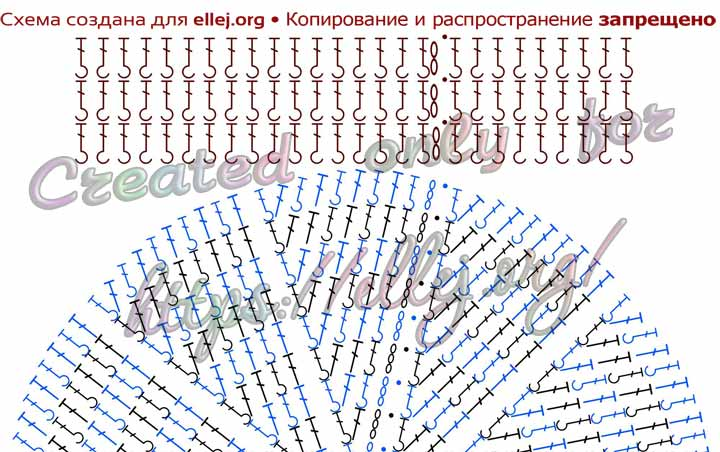 Схема мужской шапки крючком