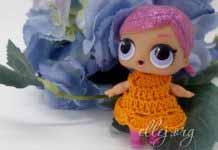 Мастер-класс и схема вязания крючком платья для куклы ЛОЛ