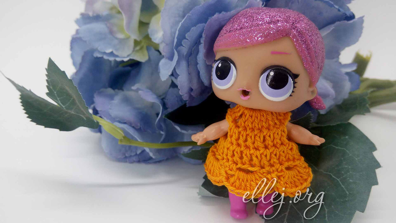 """Крохотное платье для куколки L.O.L. """"Лолка"""""""