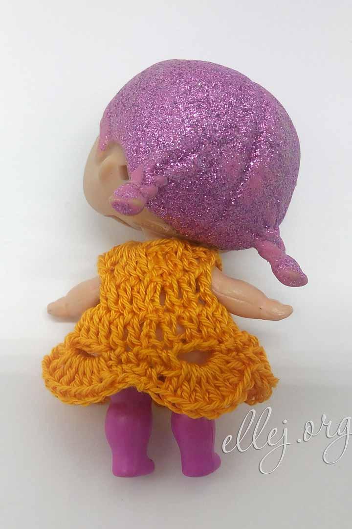 Одежда для кукол ЛОЛ крючком