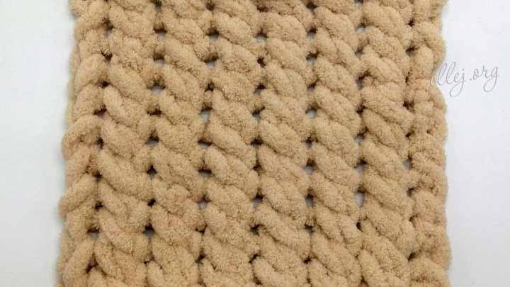 Узор для пледа из ализе пуффи