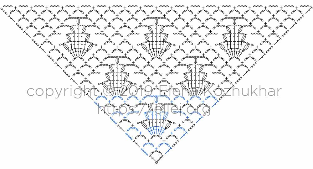 Acacia Shawl Crochet Chart