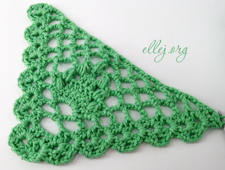 Photo Tutorial: Crochet shawl «Acacia»