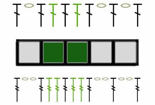 Пример филейного вязания со схемой