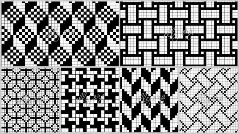 Подборка филейных узоров крючком со схемами