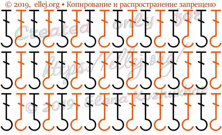 Схема резинки для обвязки