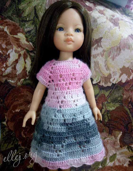 Платье Ромбики крючком