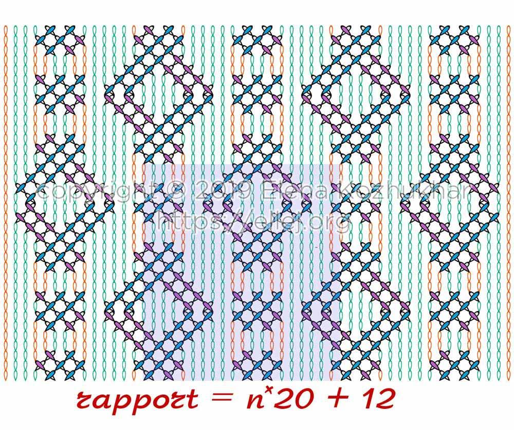 Схема узора из плюшевой пряжи 02