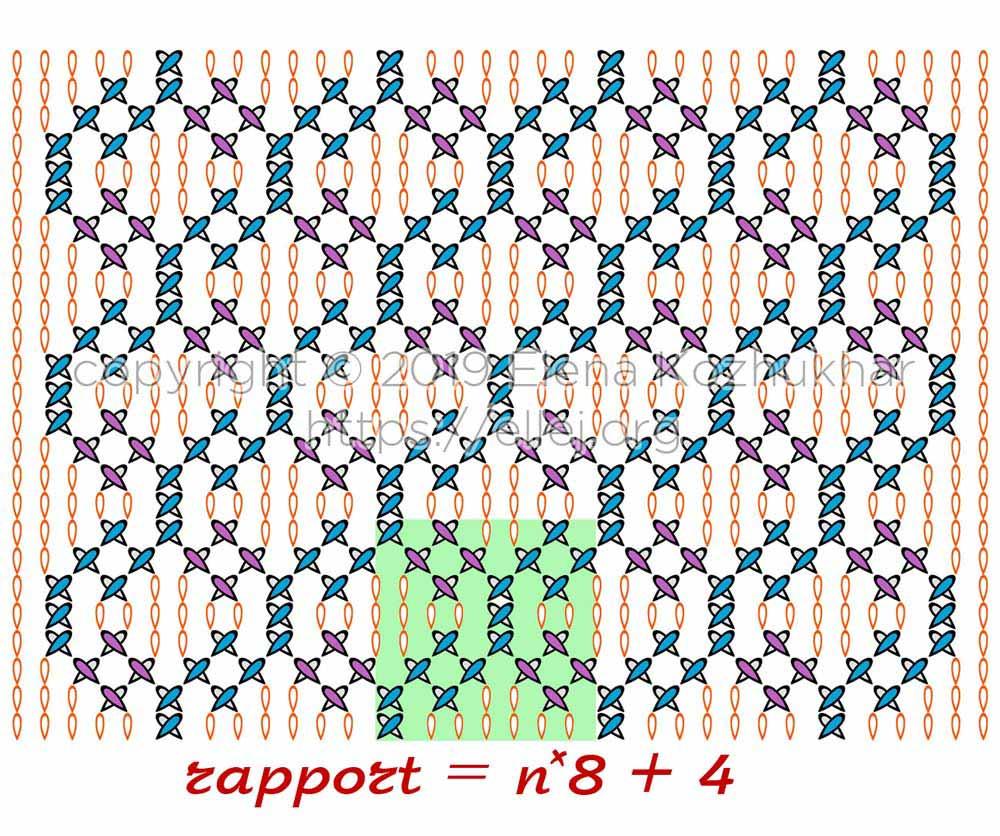 Схема узора из плюшевой пряжи 04