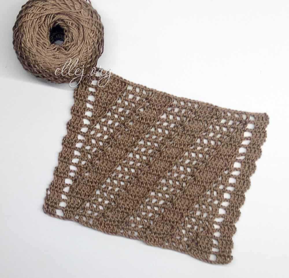 Узор для вязания крючком сеточка